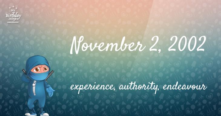 November 2, 2002 Birthday Ninja