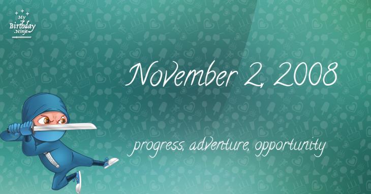 November 2, 2008 Birthday Ninja