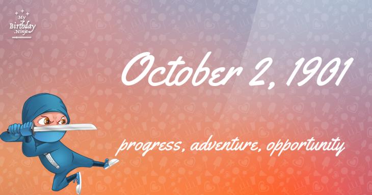 October 2, 1901 Birthday Ninja