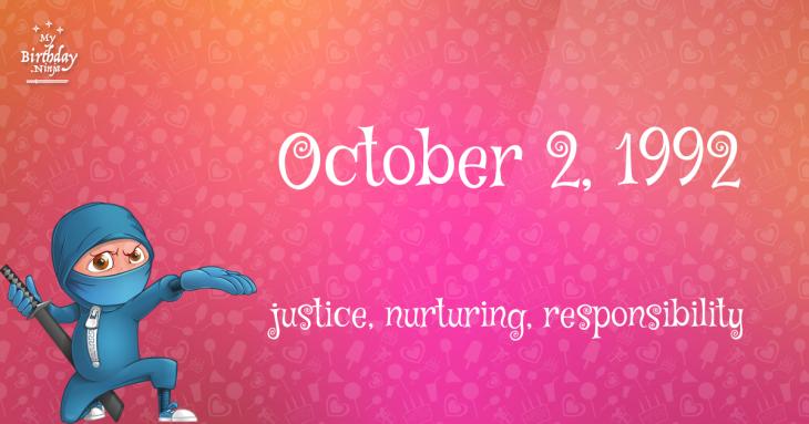 October 2, 1992 Birthday Ninja