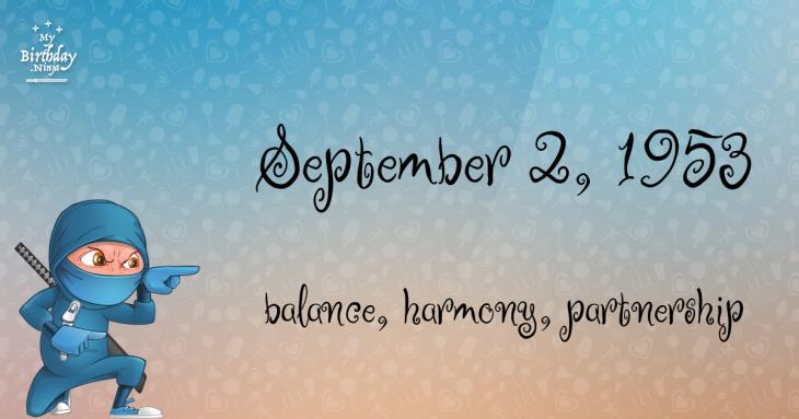 September 2, 1953 Birthday Ninja