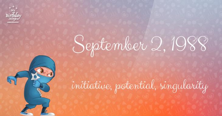 September 2, 1988 Birthday Ninja