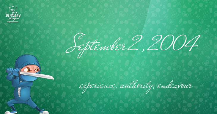 September 2, 2004 Birthday Ninja