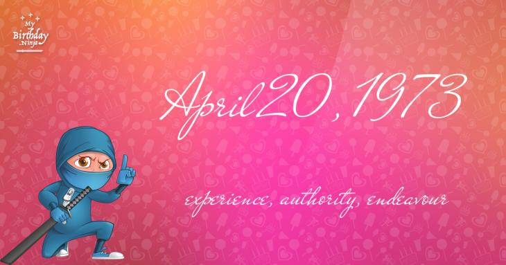 April 20, 1973 Birthday Ninja
