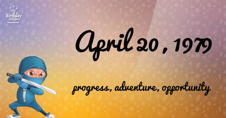 April 20, 1979 Birthday Ninja