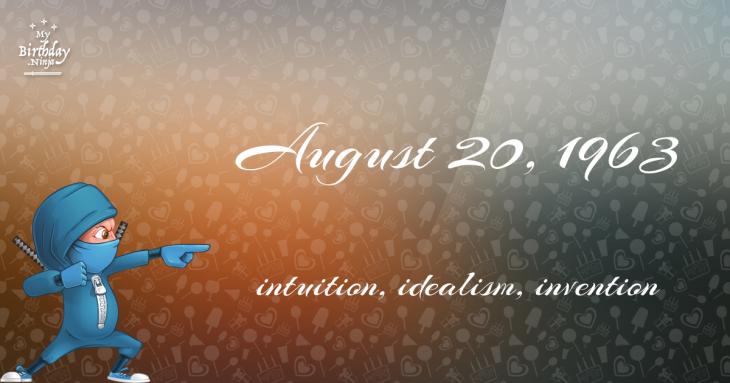 August 20, 1963 Birthday Ninja