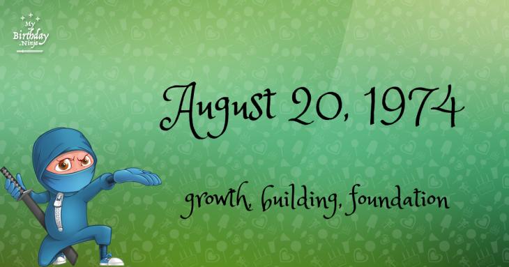 August 20, 1974 Birthday Ninja