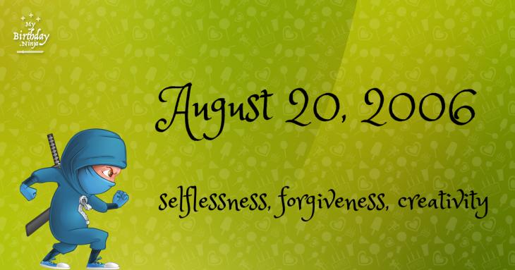 August 20, 2006 Birthday Ninja