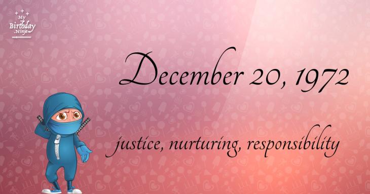 December 20, 1972 Birthday Ninja