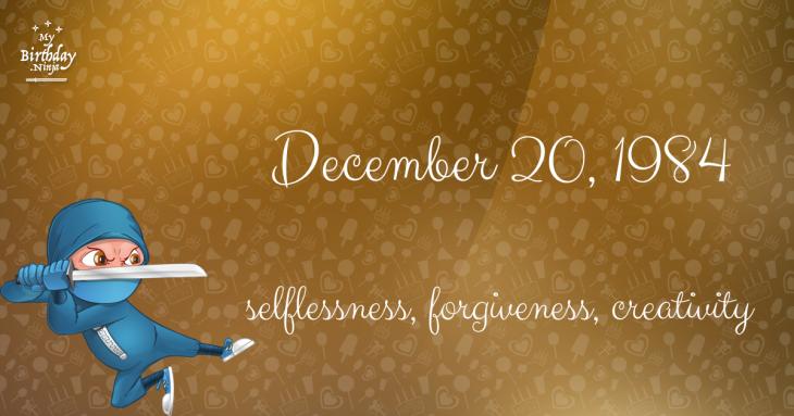 December 20, 1984 Birthday Ninja
