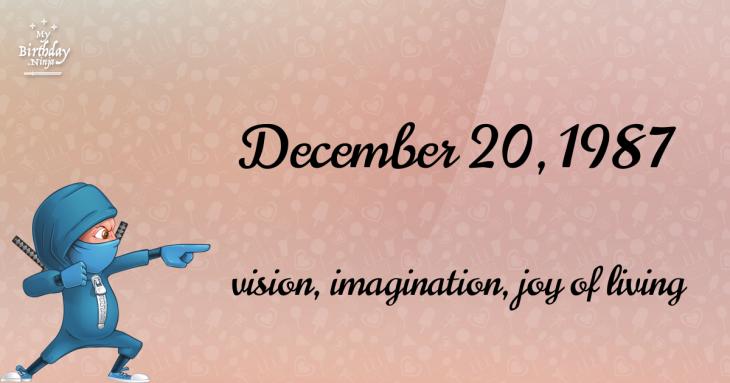 December 20, 1987 Birthday Ninja