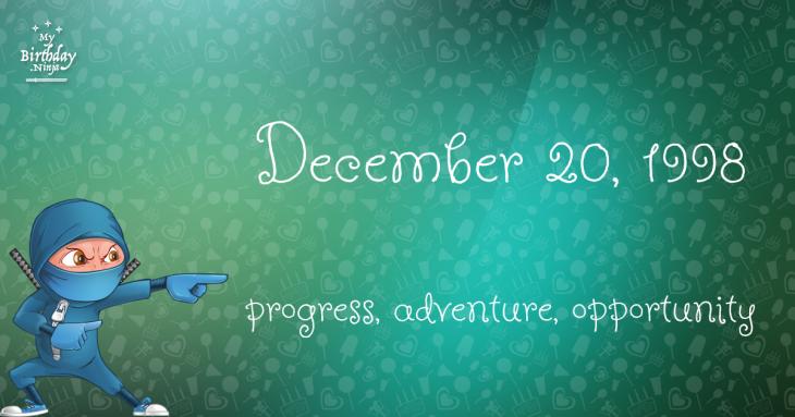 December 20, 1998 Birthday Ninja