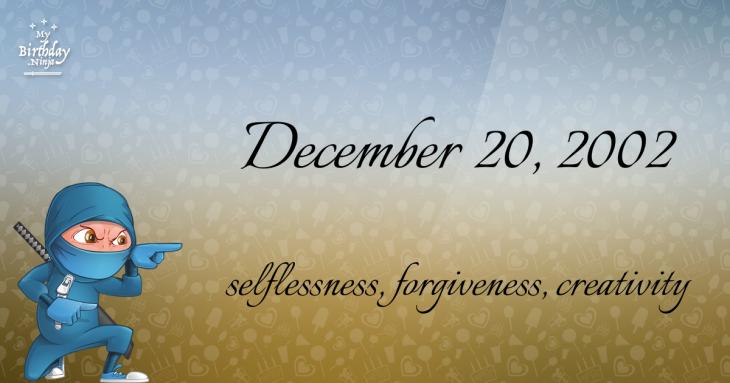 December 20, 2002 Birthday Ninja