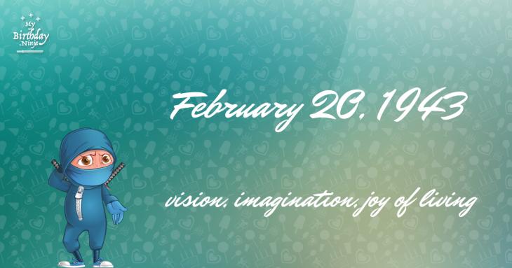 February 20, 1943 Birthday Ninja
