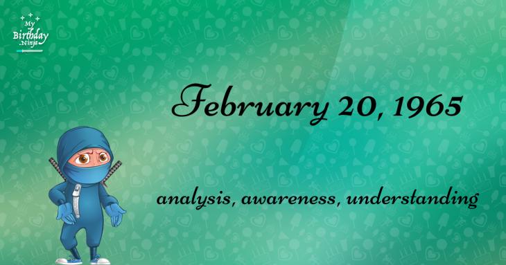 February 20, 1965 Birthday Ninja