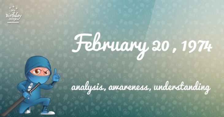 February 20, 1974 Birthday Ninja