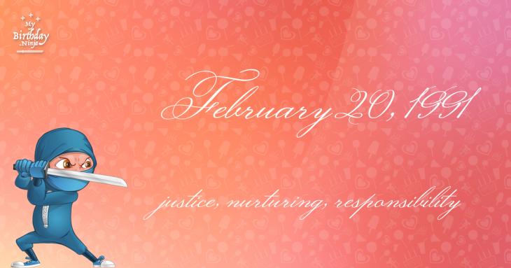 February 20, 1991 Birthday Ninja