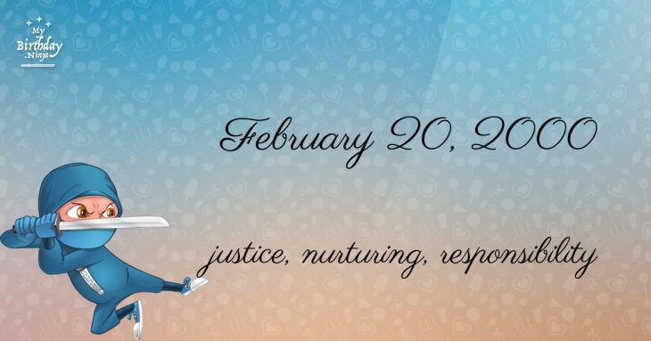 February 20, 2000 Birthday Ninja