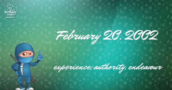 February 20, 2002 Birthday Ninja