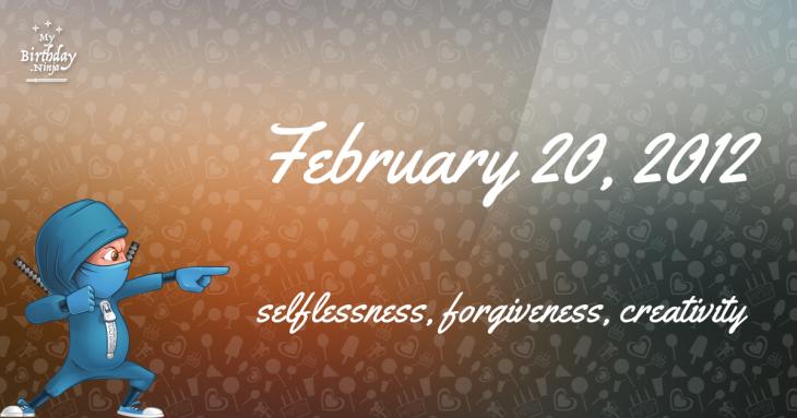 February 20, 2012 Birthday Ninja