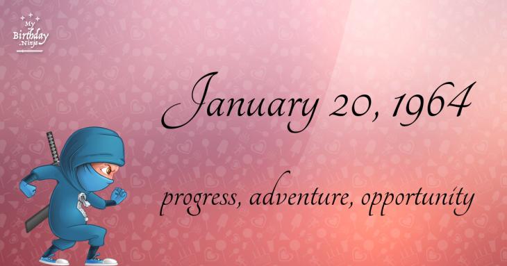January 20, 1964 Birthday Ninja