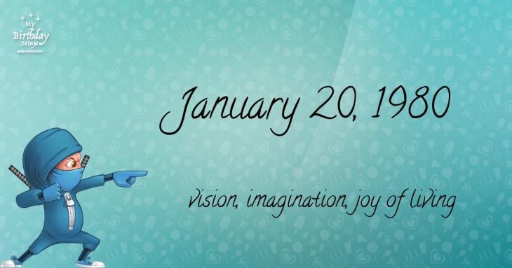 January 20, 1980 Birthday Ninja