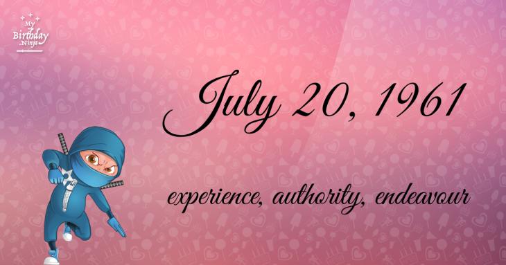July 20, 1961 Birthday Ninja