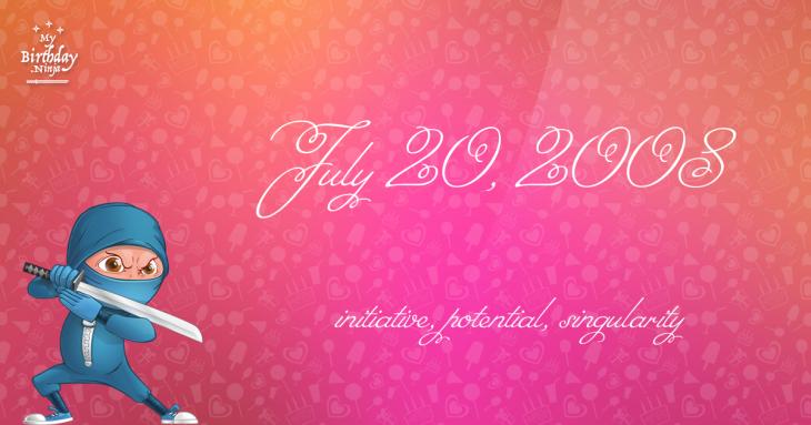 July 20, 2008 Birthday Ninja
