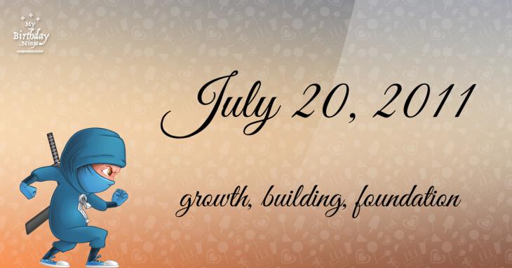 July 20, 2011 Birthday Ninja