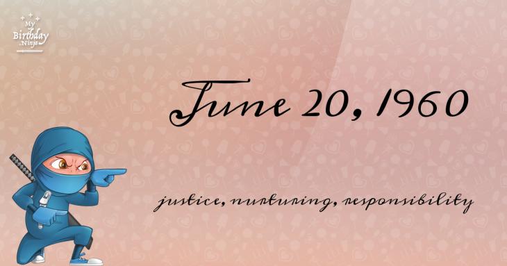 June 20, 1960 Birthday Ninja