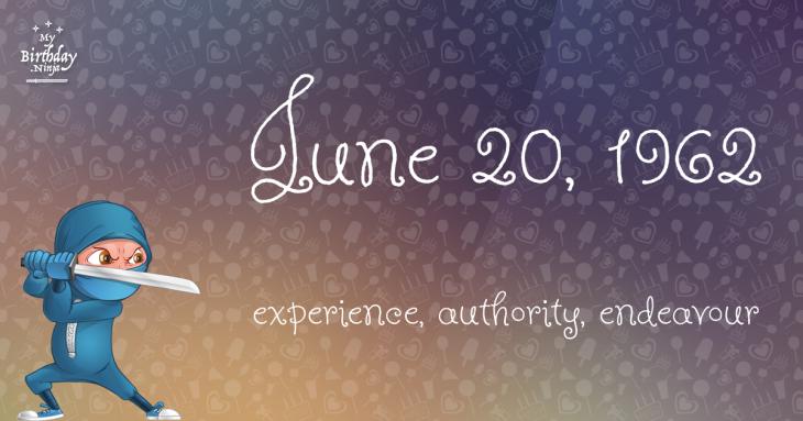 June 20, 1962 Birthday Ninja