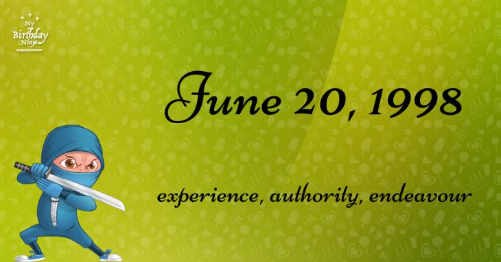 June 20, 1998 Birthday Ninja