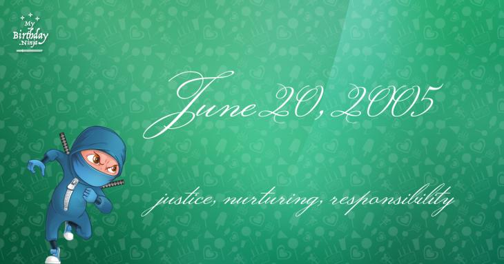 June 20, 2005 Birthday Ninja