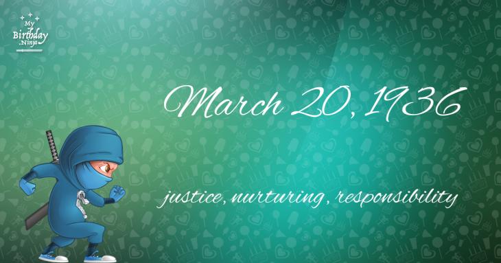 March 20, 1936 Birthday Ninja