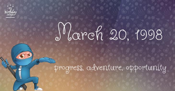 March 20, 1998 Birthday Ninja