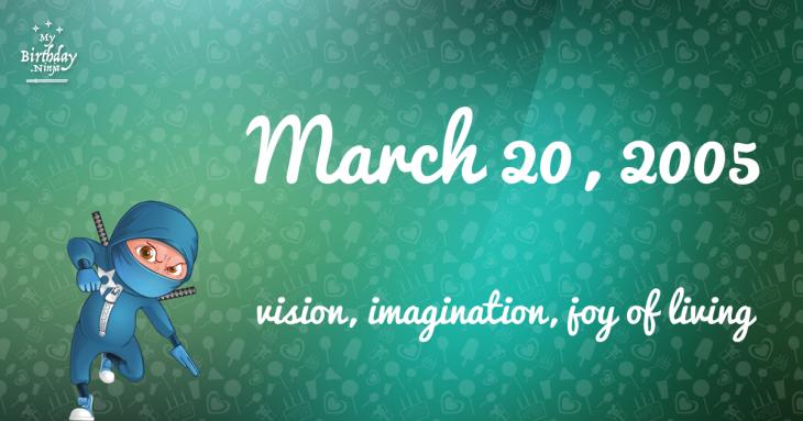 March 20, 2005 Birthday Ninja