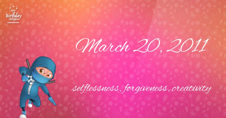 March 20, 2011 Birthday Ninja
