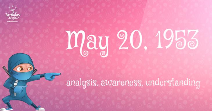 May 20, 1953 Birthday Ninja