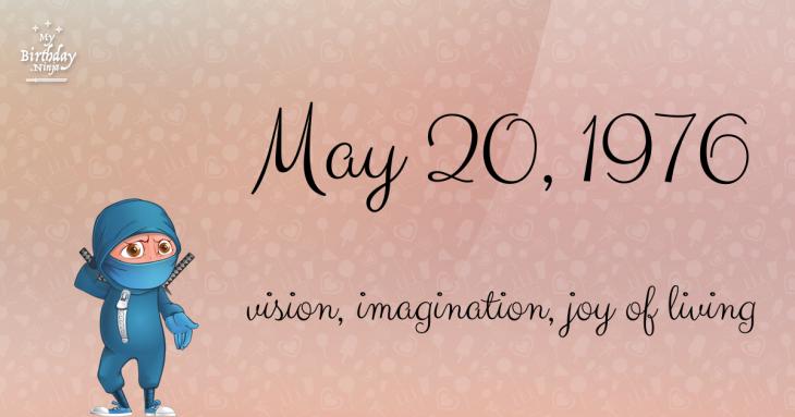 May 20, 1976 Birthday Ninja
