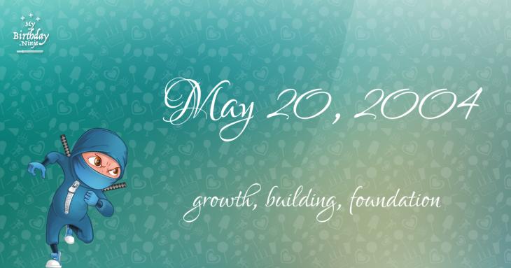 May 20, 2004 Birthday Ninja