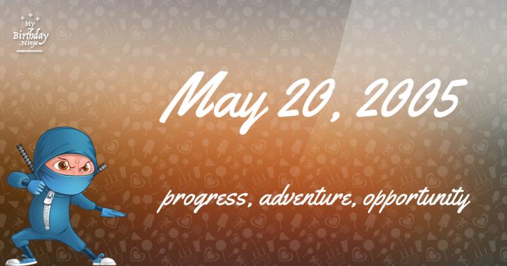 May 20, 2005 Birthday Ninja