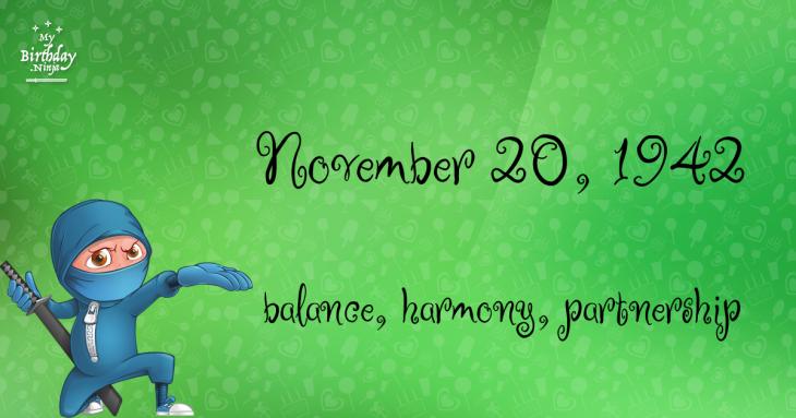 November 20, 1942 Birthday Ninja