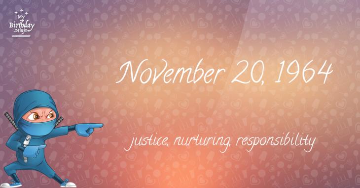 November 20, 1964 Birthday Ninja