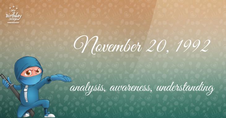 November 20, 1992 Birthday Ninja