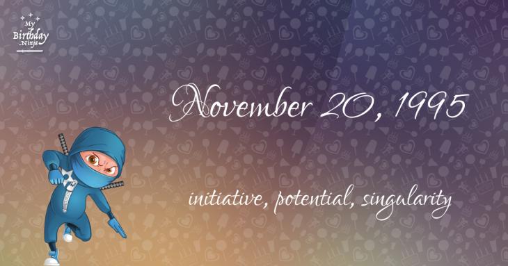 November 20, 1995 Birthday Ninja