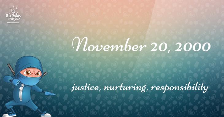 November 20, 2000 Birthday Ninja