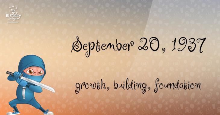 September 20, 1937 Birthday Ninja