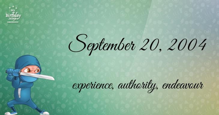 September 20, 2004 Birthday Ninja