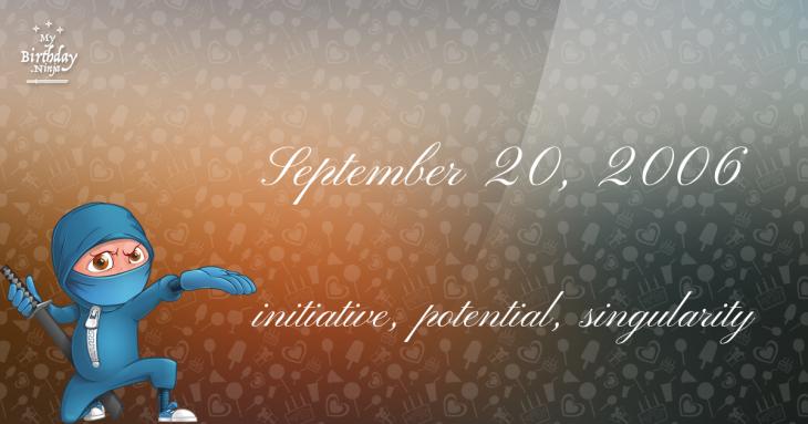 September 20, 2006 Birthday Ninja