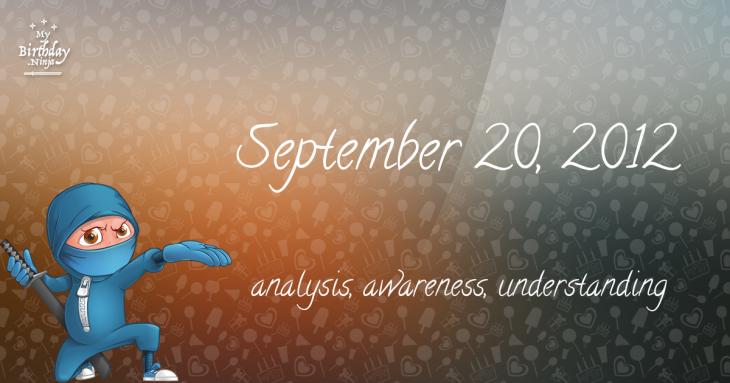 September 20, 2012 Birthday Ninja